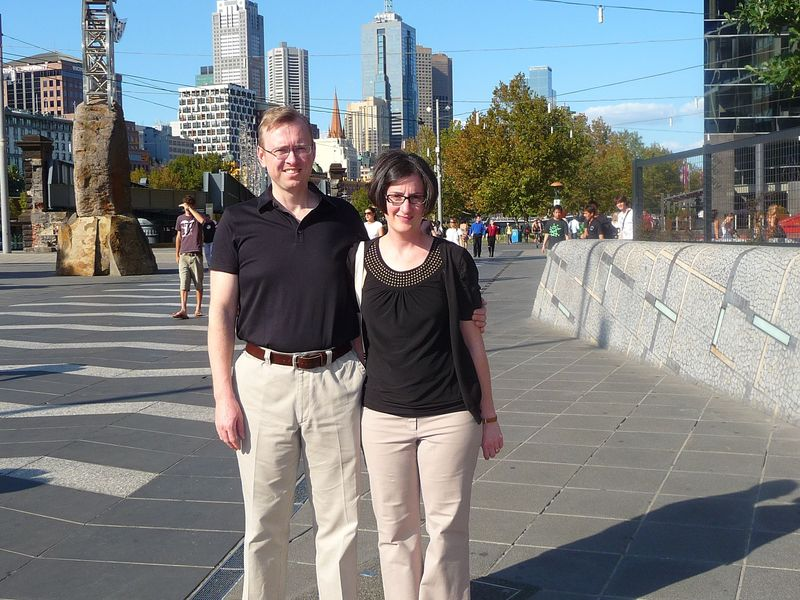 Ross and Christie in Melbourne